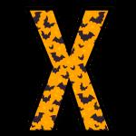 alfabeto personalizado morcegos halloween 24