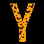 alfabeto personalizado morcegos halloween 25