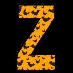 alfabeto personalizado morcegos halloween 26