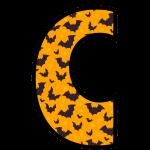 alfabeto personalizado morcegos halloween 3
