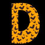 alfabeto personalizado morcegos halloween 4