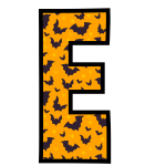 alfabeto personalizado morcegos halloween 5