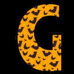 alfabeto personalizado morcegos halloween 7