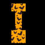 alfabeto personalizado morcegos halloween 9