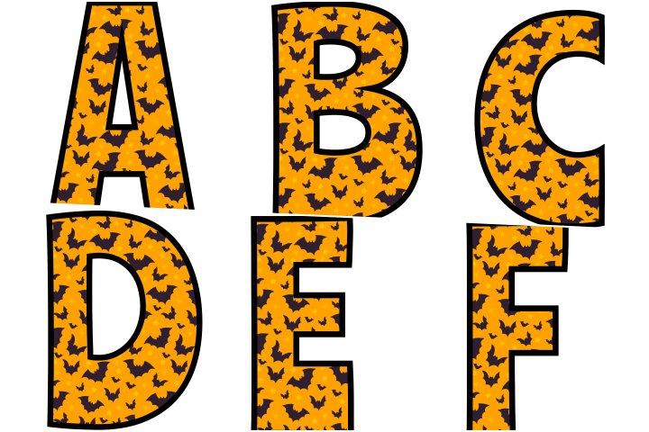 alfabeto personalizado morcegos halloween para imprimir