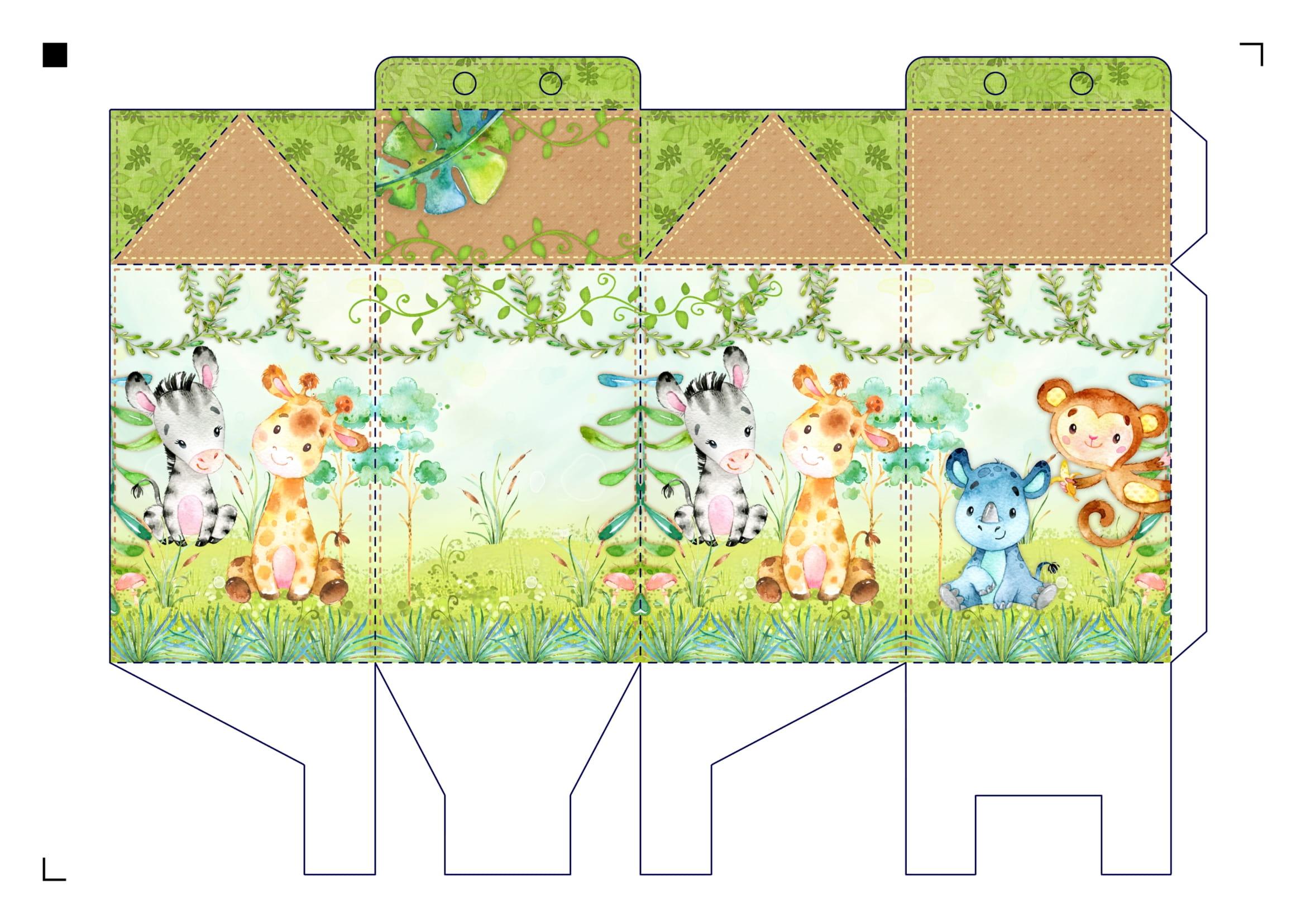 caixa milk safari aquarela