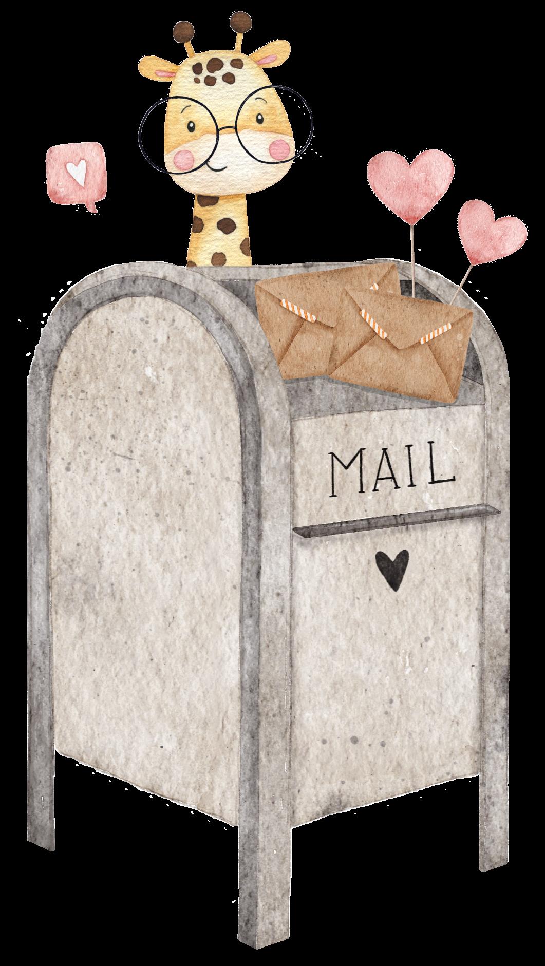 caixa correio girafa